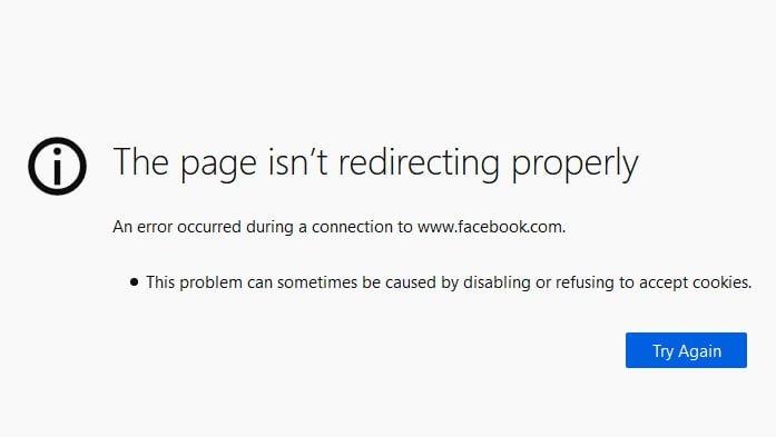 Facebook Redirect Firefox